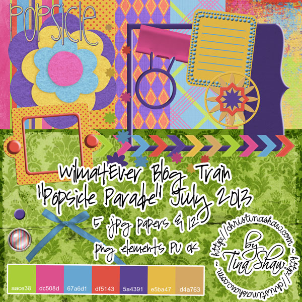 "Wilma4Ever Blog Train {July 2013} ""Popsicle Parade"" Freebie"