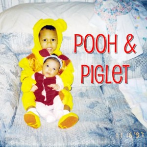 1997 - Oldest is 2 & is Winnie the Pooh & the youngest was 2 weeks old and was Piglet!