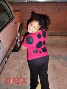 2003 - She's 6 and a ladybug - she had wings at one point in the evening!
