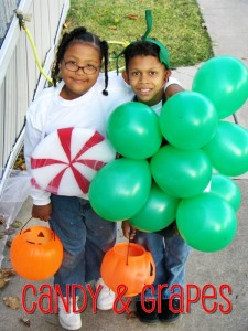 2005 - She is 8 and is a piece of candy and he is 10 and is a bunch of grapes! We wnt trunk or treating at our church, Western Hills United Methodist Church, then around our neighborhood!