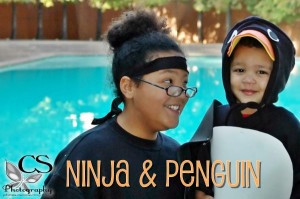 "2007 - She is 10 and is a ninja and he is 2 and is a penguin. I actually too ""pro"" shots of them dressed up this year!  It was fun but the baby was tired and whined A LOT!"