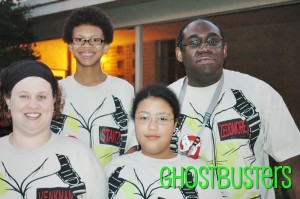 2009 - And the rest of the family went as the  Ghostbusters!  We were helping to pass out candy at our church.
