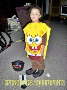 2010 - He is 5 and is Spongebob Squarepants!