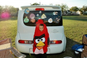 2011 - Our car decorated for Trunk Or Treat at our church!  Yeah, we had a theme that year but the kids LOVED it!