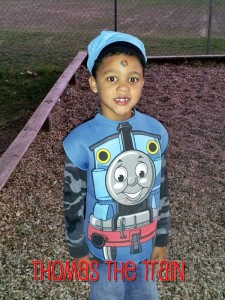 2012 - He's 7 and is Thomas the Train.