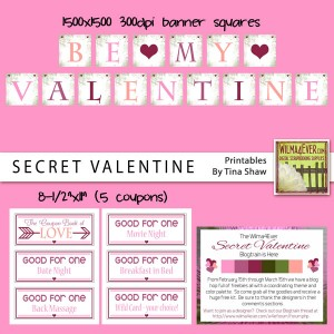 """Secret Valentine"" Printables {February 2014 Blog Train Freebie}"